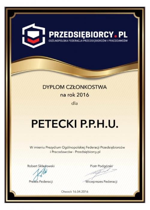 Grupa PETECKI członkiem Przedsiębiorcy.pl .